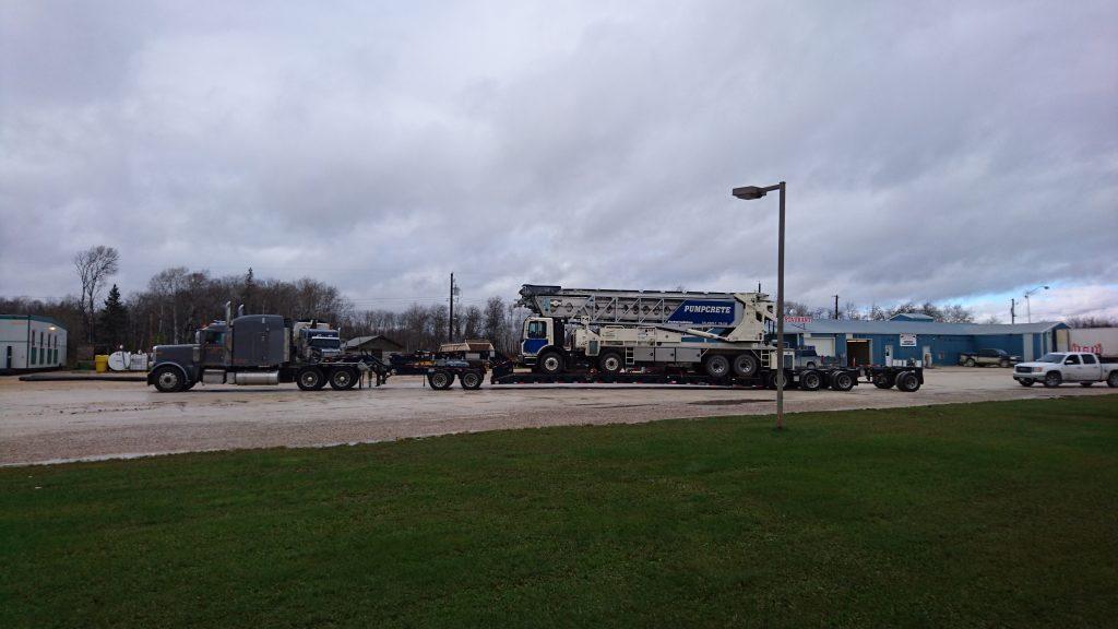 heavy equipment heavy haul manitoba to ontario
