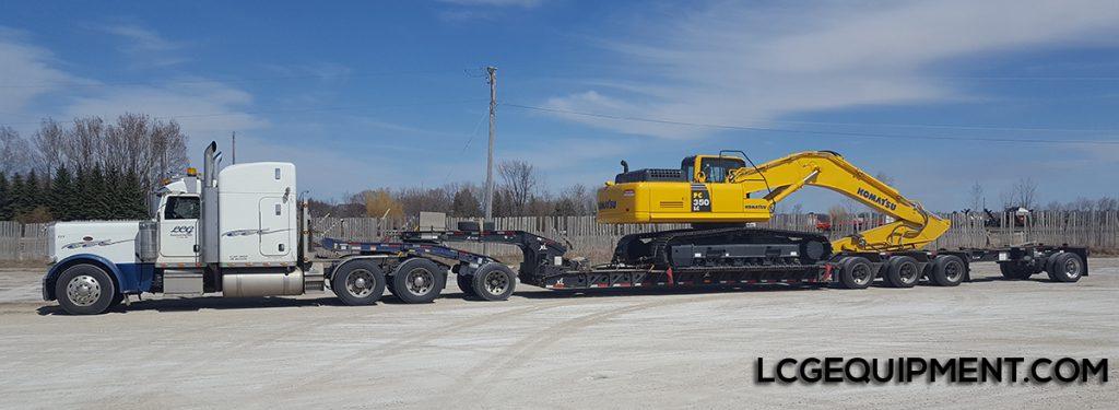 komatsu pc350lc excavator heavy haul