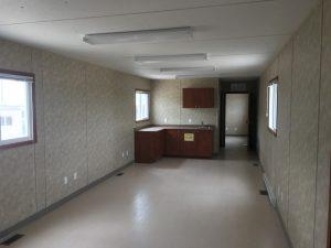 12x60 office trailer inside